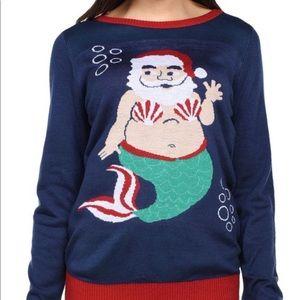 Tipsy Elves Santa Claus Mermaid Sweater 2041